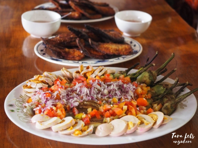 Food at D'Fields Homestay