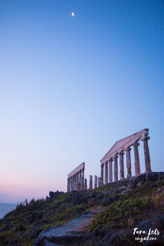 Fortune Island acropolis at sunset